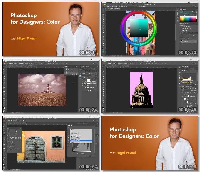دانلود فیلم آموزشی Photoshop for Designers: Color از Lynda