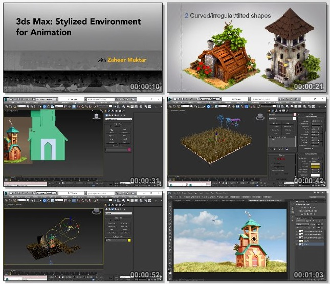 دانلود فیلم آموزشی 3ds Max: Stylized Environment for Animation