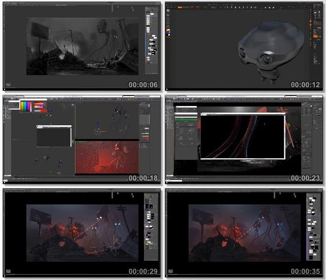 دانلود فیلم آموزشی Creating Key Art Illustration for Film and Games