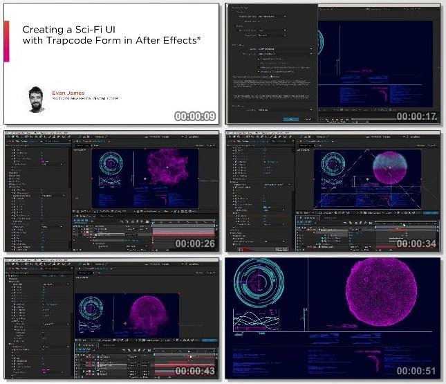 دانلود فیلم آموزشی Creating a Sci-Fi UI with Trapcode Form in After Effects