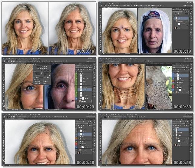 دانلود فیلم آموزشی Age Progression in Photoshop از Pluralsight