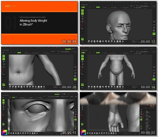 دانلود فیلم آموزشی Altering Body Weight in ZBrush از Pluralsight