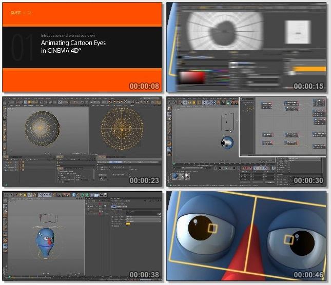 دانلود فیلم آموزشی Animating Cartoon Eyes in CINEMA 4D از Pluralsight