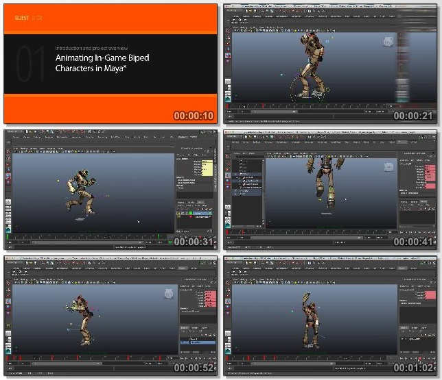 دانلود فیلم آموزشی Animating In-game Biped Characters in Maya