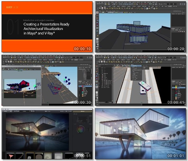 دانلود فیلم آموزشی Creating a Presentation-ready Architectural Visualization in Maya and V-Ray