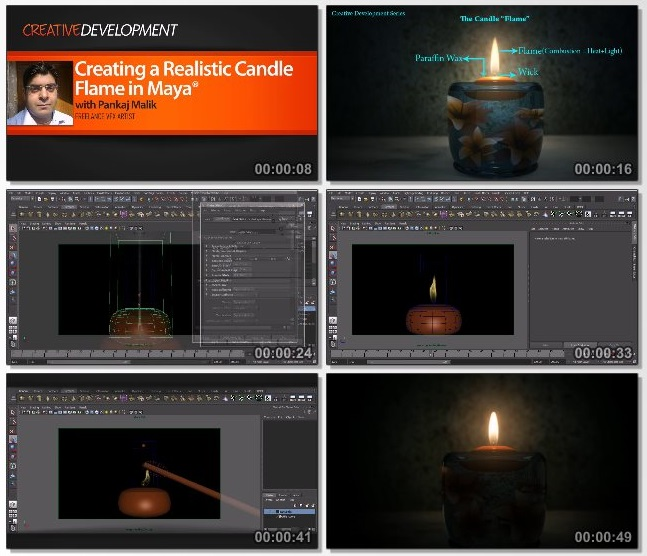دانلود فیلم آموزشی Creating a Realistic Candle Flame in Maya از Pluralsight