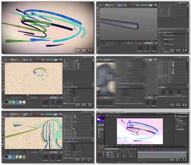 دانلود فیلم آموزشی 2D Styled 3D Motion Graphics in CINEMA 4D and After Effects