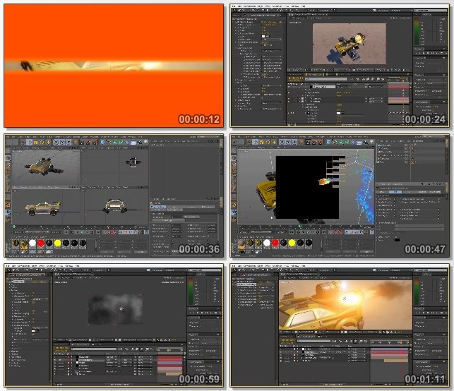 دانلود فیلم آموزشی Creating a Ballistic Hit in CINEMA 4D and TurbulenceFD