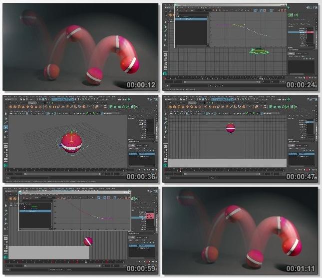 دانلود فیلم آموزشی Animation Fundamentals: Animating a Ball Bounce