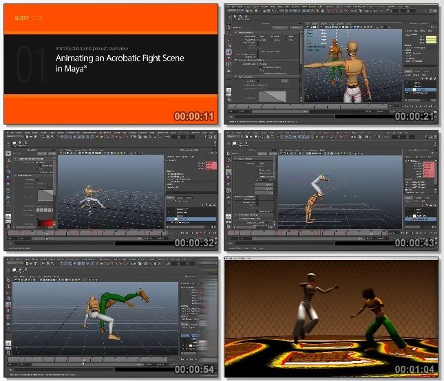 دانلود فیلم آموزشی Animating a Fight Scene in Maya از Pluralsight