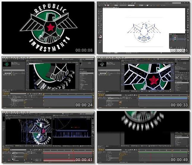 دانلود فیلم آموزشی Creating 3D Geometry from Vector Logos in After Effects