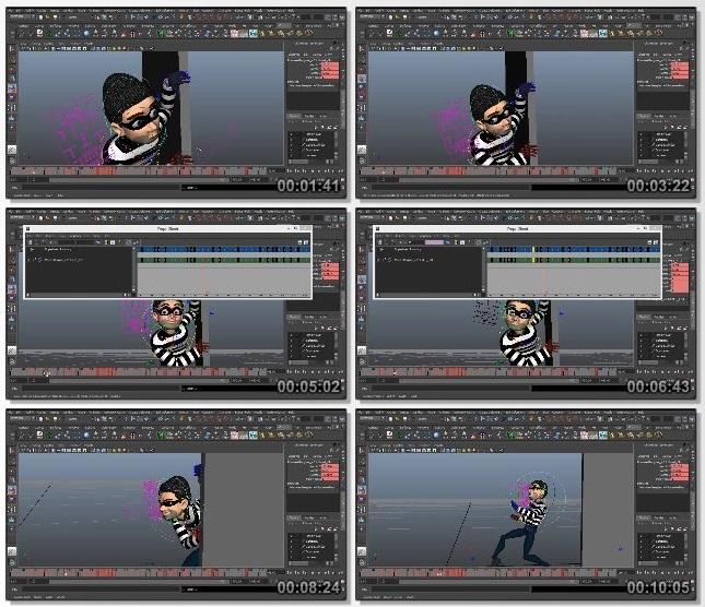 دانلود فیلم آموزشی Animating a Cartoon Burglar Scene in Maya از Pluralsight