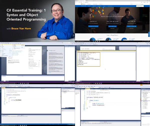 C# Essential Training: 1 Syntax and Object Oriented Programming center