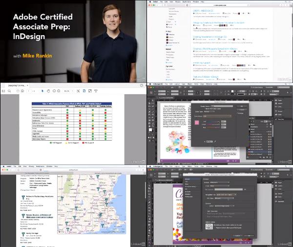 Cert Prep: Adobe Certified Associate InDesign center