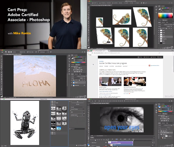 Cert Prep: Adobe Certified Associate – Photoshop center