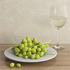 Green grapes 3D Model logo
