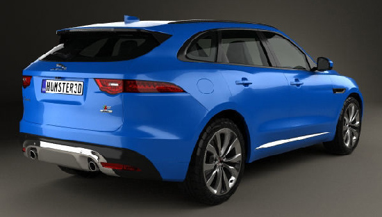Jaguar F-Pace S 2017 3D model center