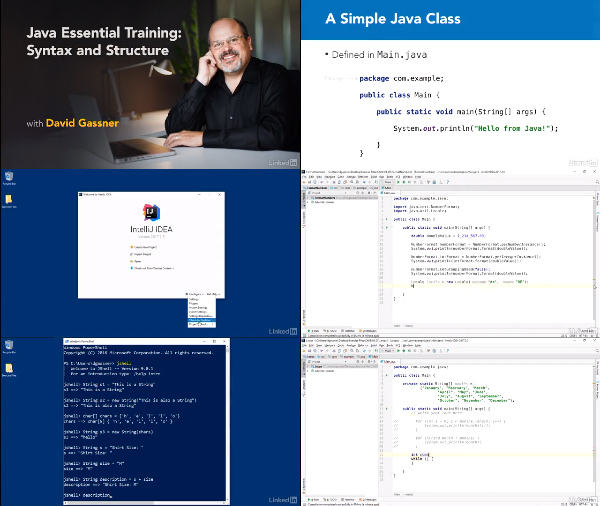 Java Essential Training: Syntax and Structure center