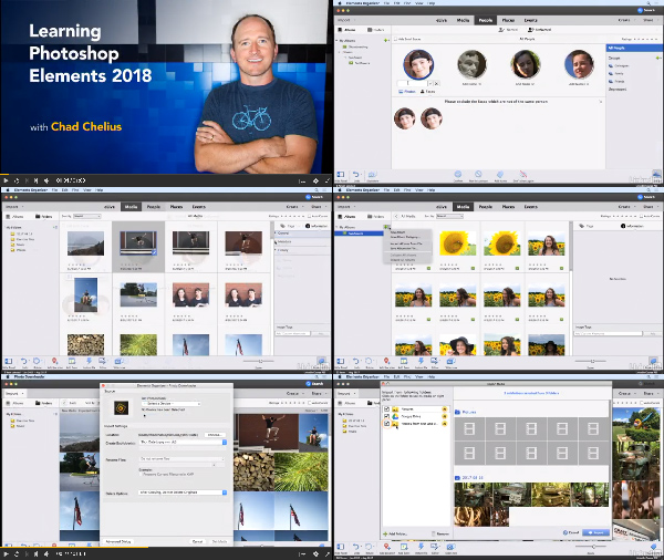 Learning Photoshop Elements 2018 center