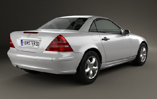 Mercedes Benz SLK Class 2000 3d Model center