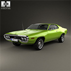 Plymouth Satellite 1971 3D model logo