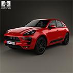 Porsche Macan GTS 2017 3D model logo