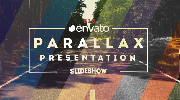 Videohive Big Typo Parallax Presentation center