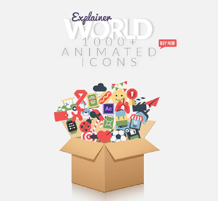 Videohive Explainer World Video Toolkit Library center