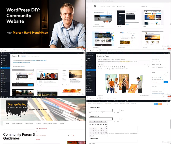 WordPress DIY: Community Website center