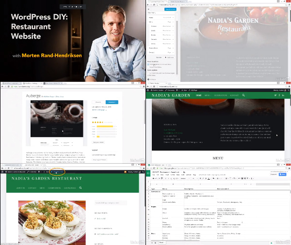 WordPress DIY: Restaurant Website center
