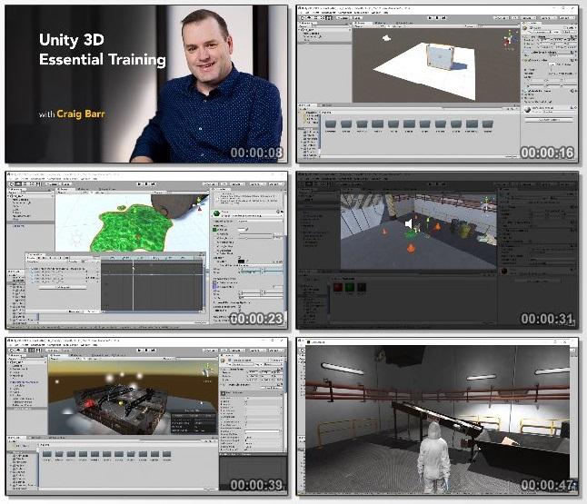 دانلود فیلم آموزشی Unity 3D Essential Training از Lynda