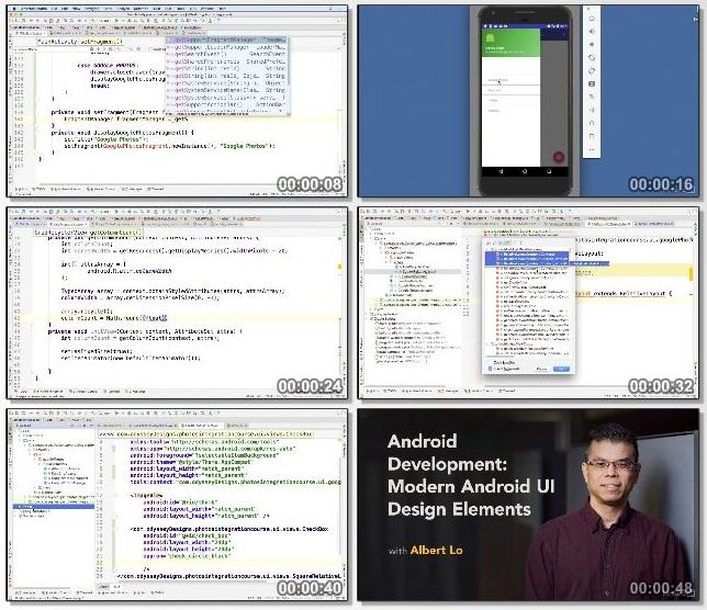دانلود فیلم آموزشی Android Development: Modern Android UI Design Elements