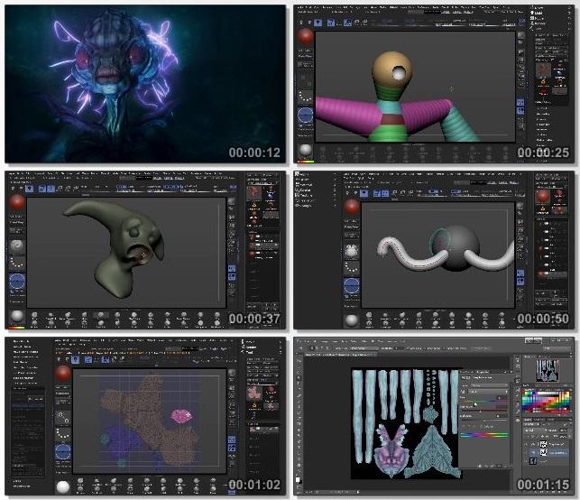 دانلود فیلم آموزشی Designing a Sea Creature in ZBrush از Pluralsight