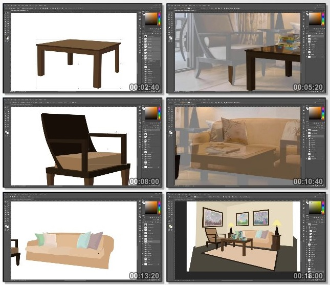 دانلود فیلم آموزشی Backgrounds and Assets for Animation in Photoshop