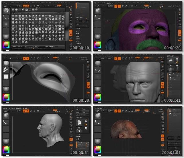 دانلود فیلم آموزشی Bust Sculpting in ZBrush Volume 2 از 3dmotive