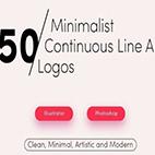 50Premade Line Art Logo Bundle Pack logo