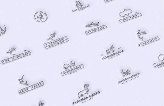 50Premade Line Art Logo Bundle Pack center