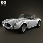AC Shelby Cobra 427 1965 3D model logo