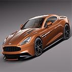 Aston Martin 2013 AM 310 Vanquish 3d Model logo