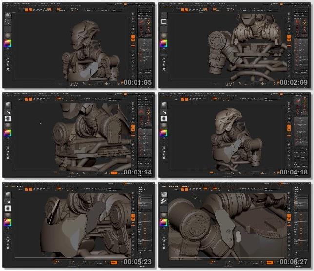 دانلود فیلم آموزشی ZBrush For Hardsurface Design از CubeBrush