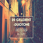 Gradient and Duotone Photoshop actions logo