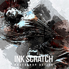 Ink Scratch Photoshop Action logo