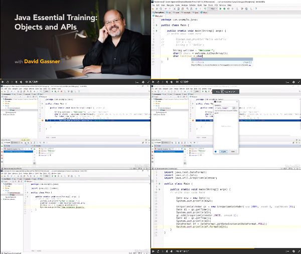 Java Essential Training: Objects and APIs center