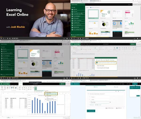 Learning Excel Online center