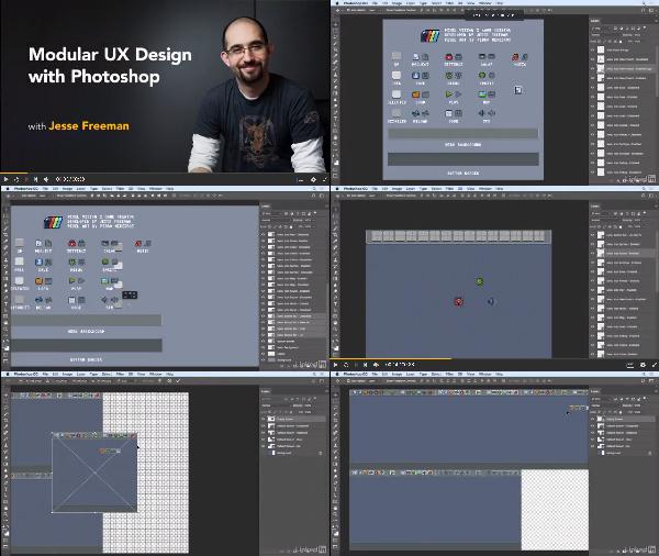 Modular UX Design with Photoshop center
