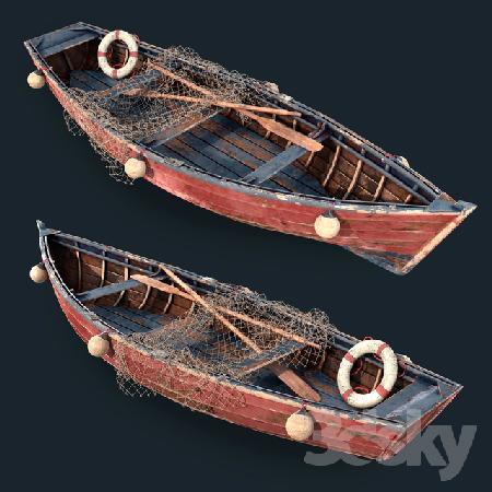Old fishing boat 3d Model center