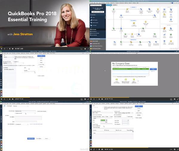QuickBooks Pro 2018 Essential Training center