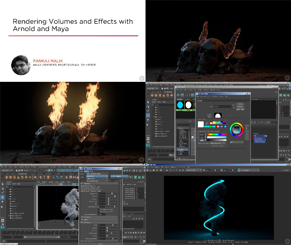 Rendering Volumes and Effects with Arnold and Maya center