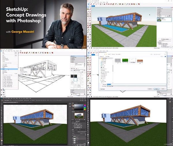 SketchUp: Concept Drawings with Photoshop center