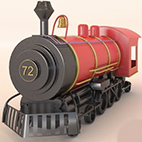 Toy locomotive 3d Model logo